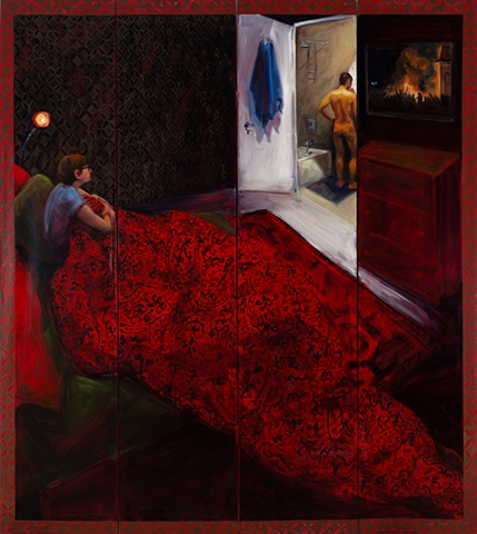 Night , oil on canvas panels  72x72, 2011