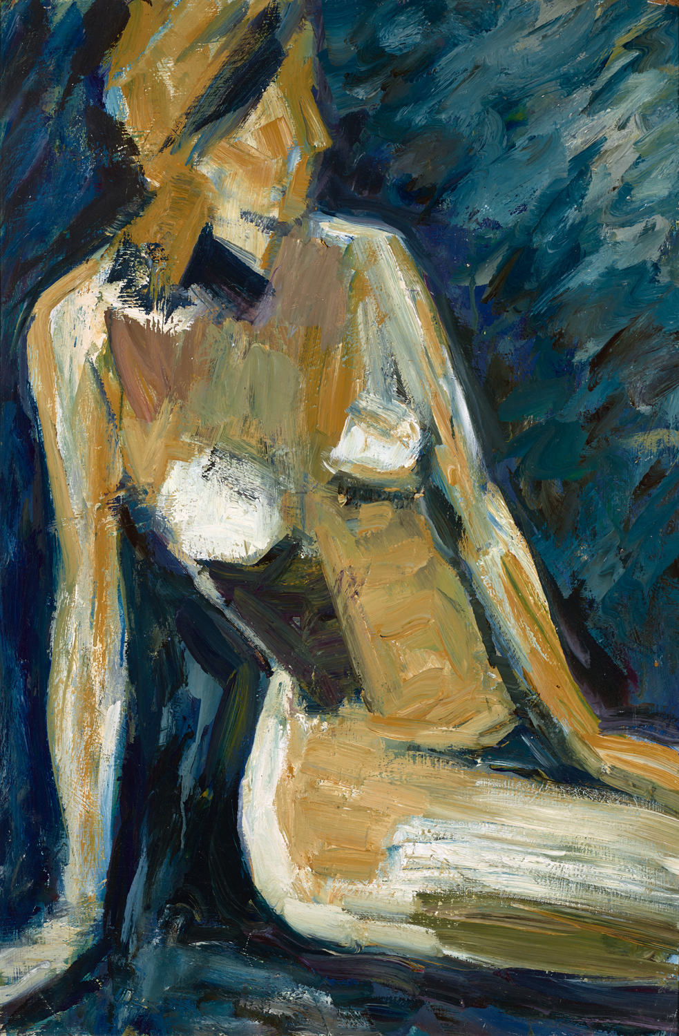 Blue Madonna   oil on canvas 48 x 36, 1971