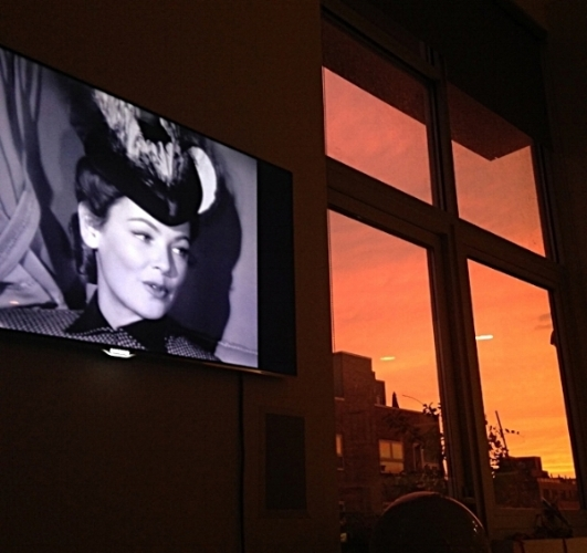 "Watching ""The Ghost and Mrs. Muir"" with Jessica Hargreaves in Brooklyn in 2015."