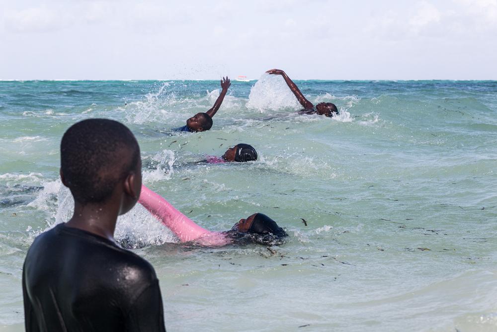 Michamvi's swimming class
