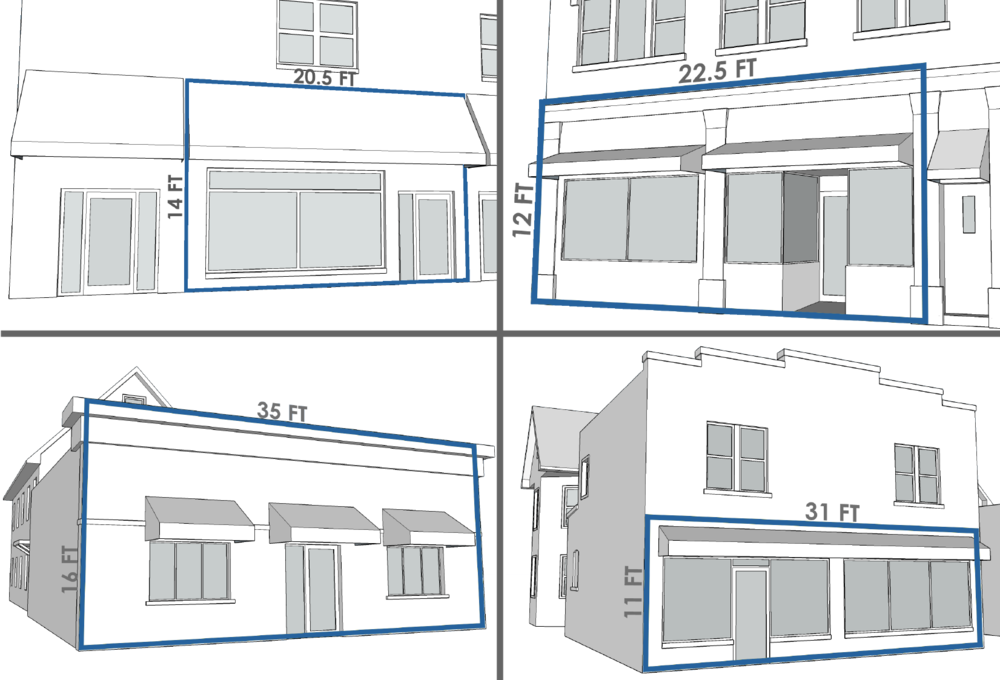 1st FLOOR STOREFRONT LARGER THAN 240 SF. Click on the image above.
