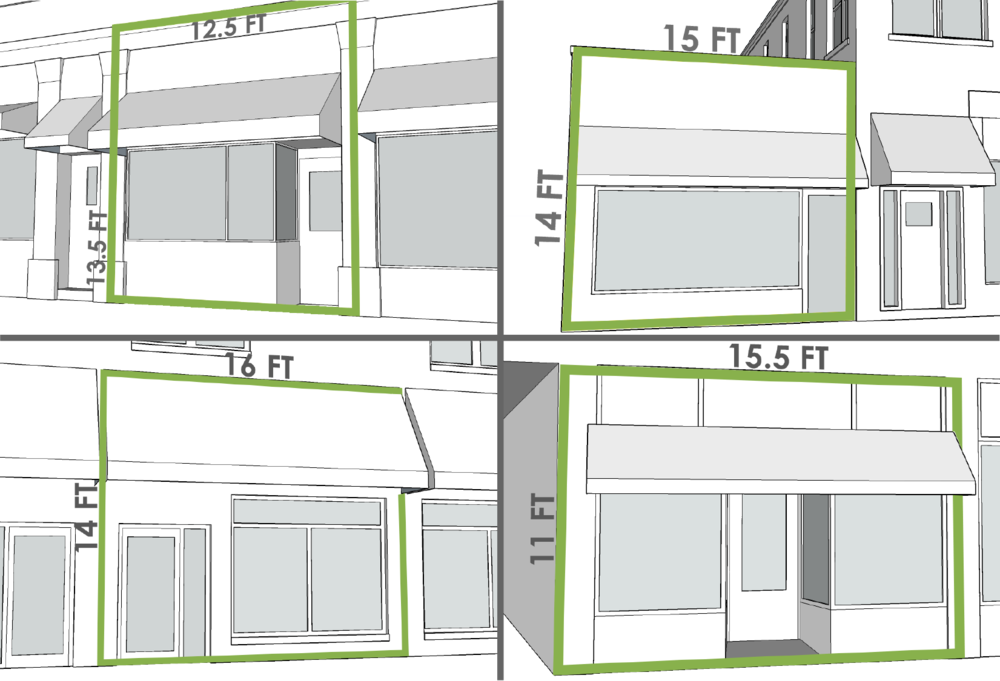 1st FLOOR STOREFRONT SMALLER THAN 240 SF.   Click on the image above.