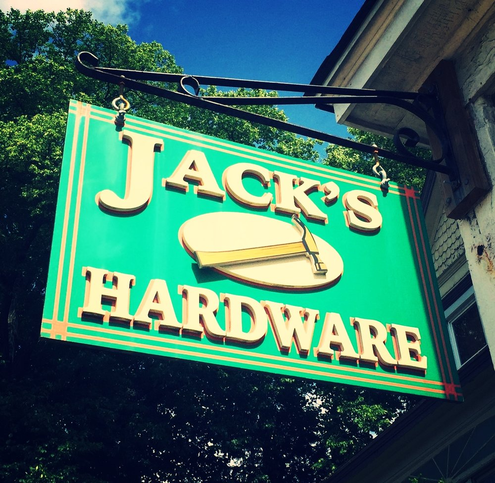 Blade Sign at the former Jack's Hardware