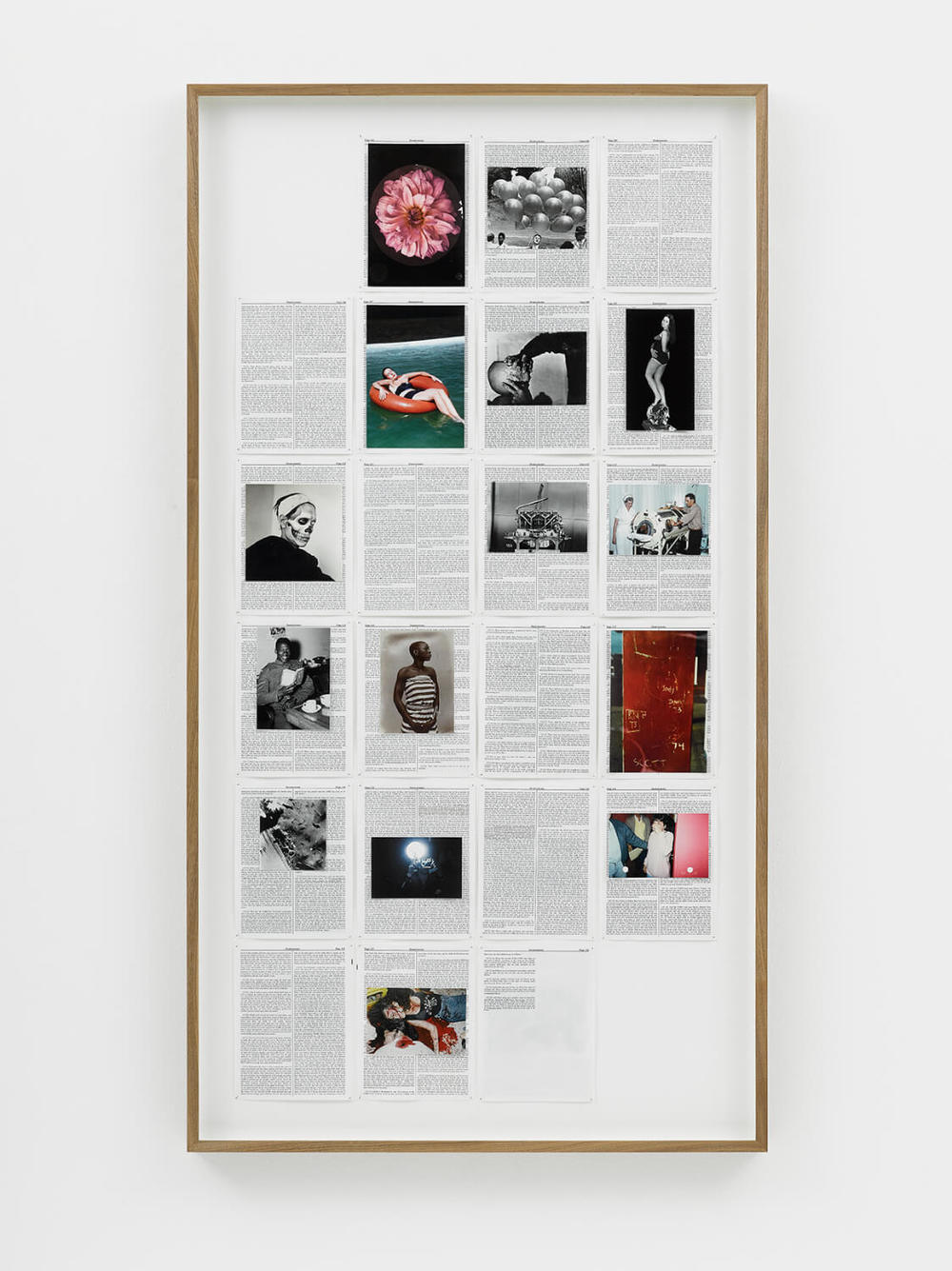 Deuteronomy, Divine Violence, 2013, King James Bible, Hahnemühle print, brass pins, 755mm x 1415mm, Image courtesy of Lisson Gallery, London