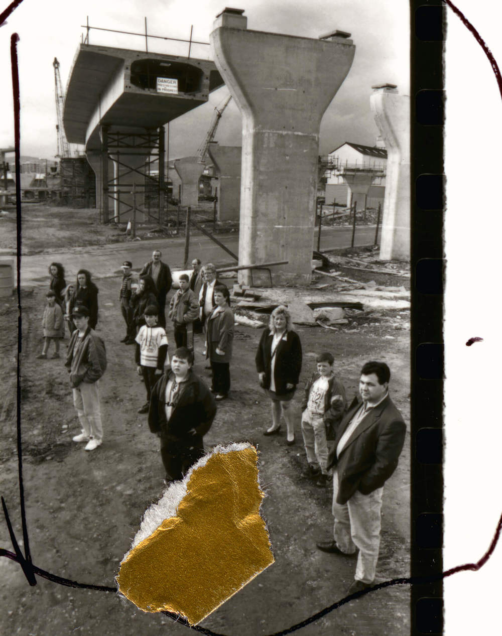 April to August 1993- Sheet 2, People in Trouble Laughing Pushed to the Ground, 2011, C-type print, 150cm x 190cm