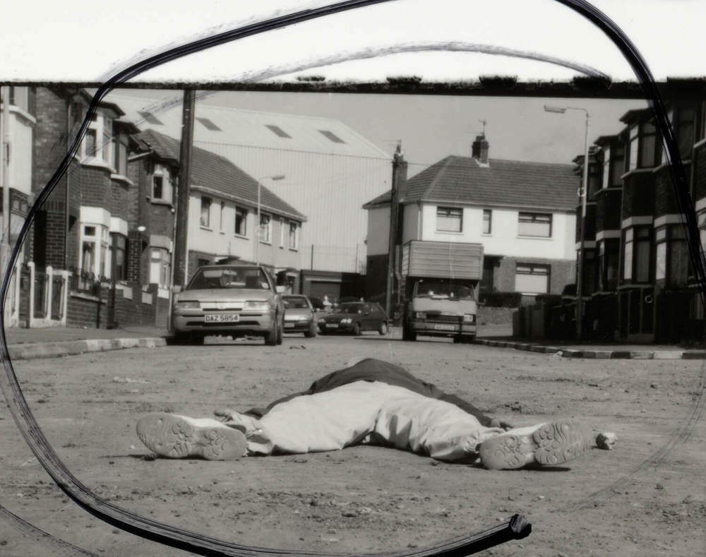 1994 May 01- Sheet 25, People in Trouble Laughing Pushed to the Ground, 2011, C-type print, 190cm x 150cm
