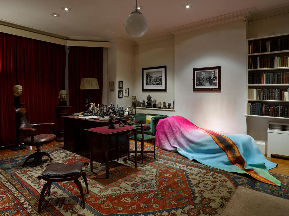 Installation view, Every piece of dust on Freud's couch, The Freud Museum, London, 2015, image © Lisson Gallery, London