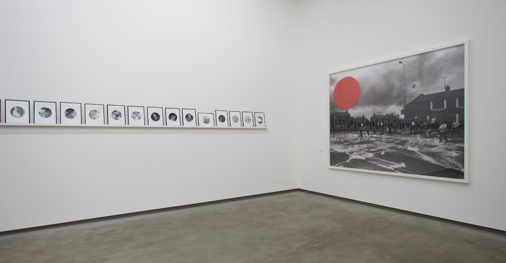 People in Trouble Laughing Pushed to the Ground (Contacts), Installation View, Northern Ireland (colon) 30 Years of Photography, Belfast Exposed, May 2013, image © Jordan Hutchings - 4.jpg