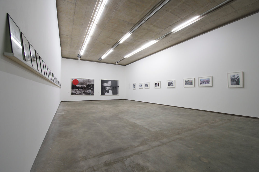 People in Trouble Laughing Pushed to the Ground (Contacts), Installation View, Northern Ireland (colon) 30 Years of Photography, Belfast Exposed, May 2013, image © Jordan Hutchings - 3.jpg