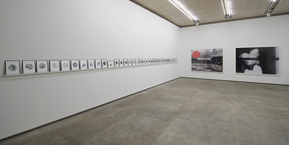 People in Trouble Laughing Pushed to the Ground (Contacts), Installation View, Northern Ireland (colon) 30 Years of Photography, Belfast Exposed, May 2013, image © Jordan Hutchings - 5.jpg