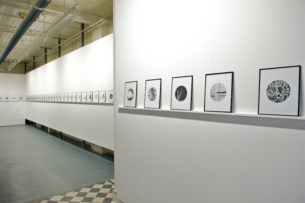People in Trouble Laughing Pushed to the Ground (Dots), Installation View, Northern Ireland: 30 Years of Photography, Belfast Exposed, 2012