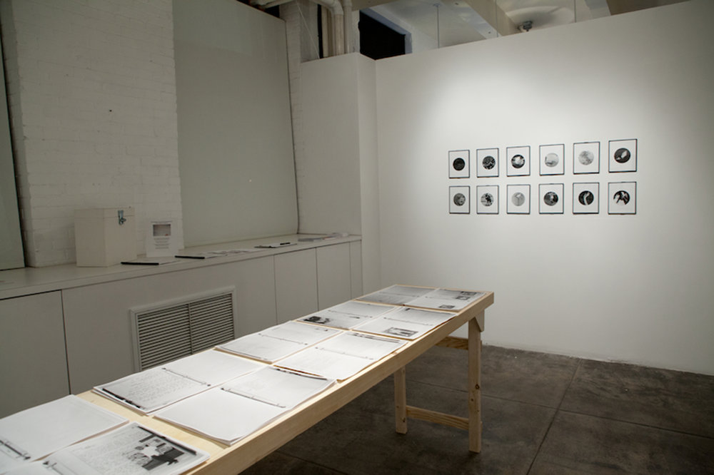People in Trouble Laughing Pushed to the Ground (Dots), Installation View, image © Philadelphia Photo Arts Center, 2012
