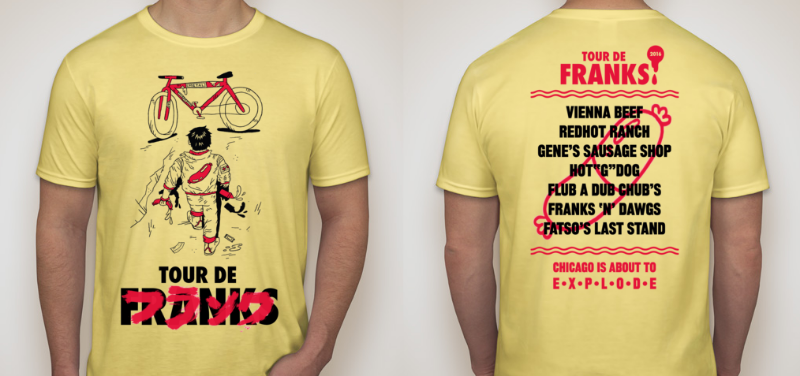 Official 2016 Tour de Franks Chicago t-shirt