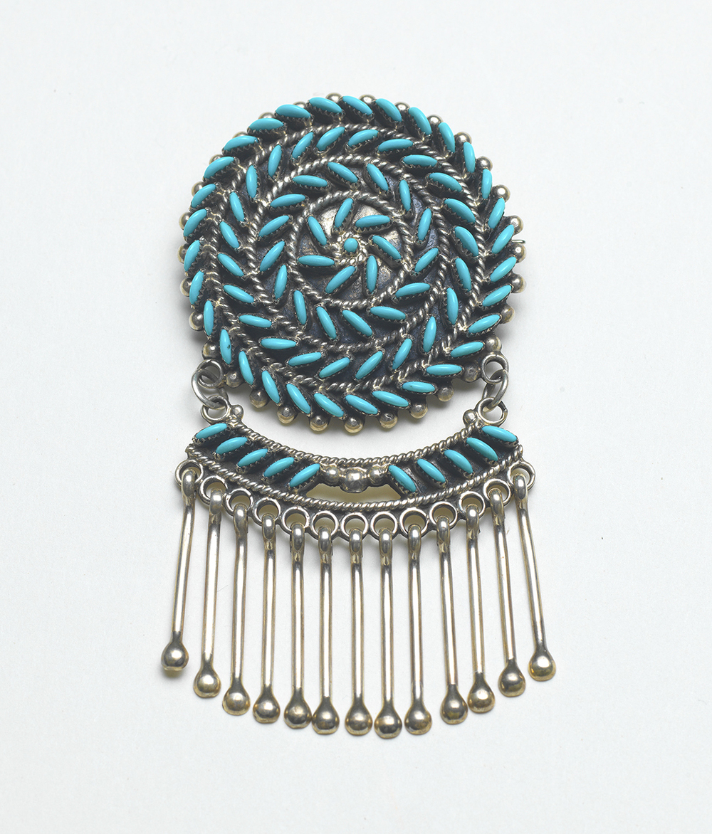 Octavius and Irma Seowtewa pin-pendant