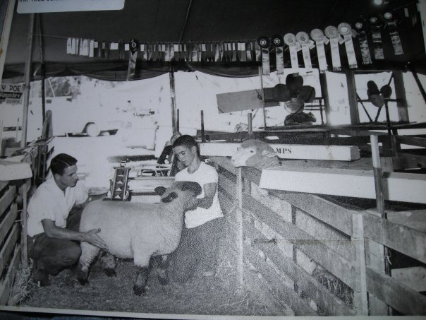 Stan Poe Sr. and brother Kenny, showing their 4-H lamb.