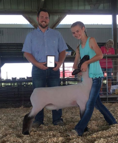 Grand Champion Market Lamb - Martinsville Ag Show (IL)Shown by Karli Titus