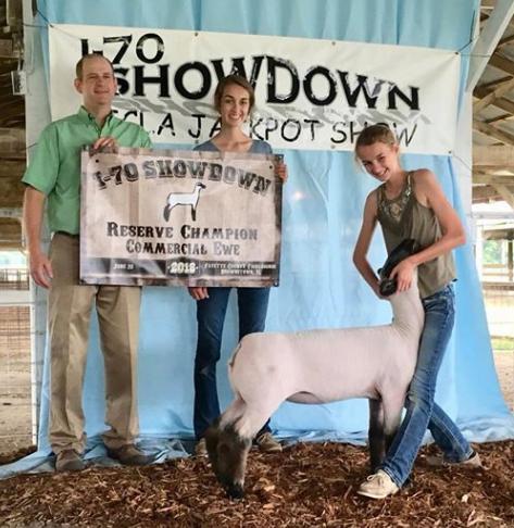 Res. Grand Champion Ewe - I-70 Showdown (IL) Shown by Karli Titus