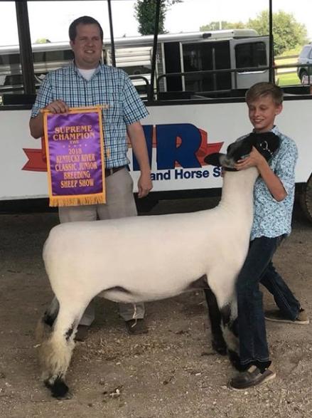 Grand Champion Ewe - Kentucky River ClassicShown by Corbin Coyle