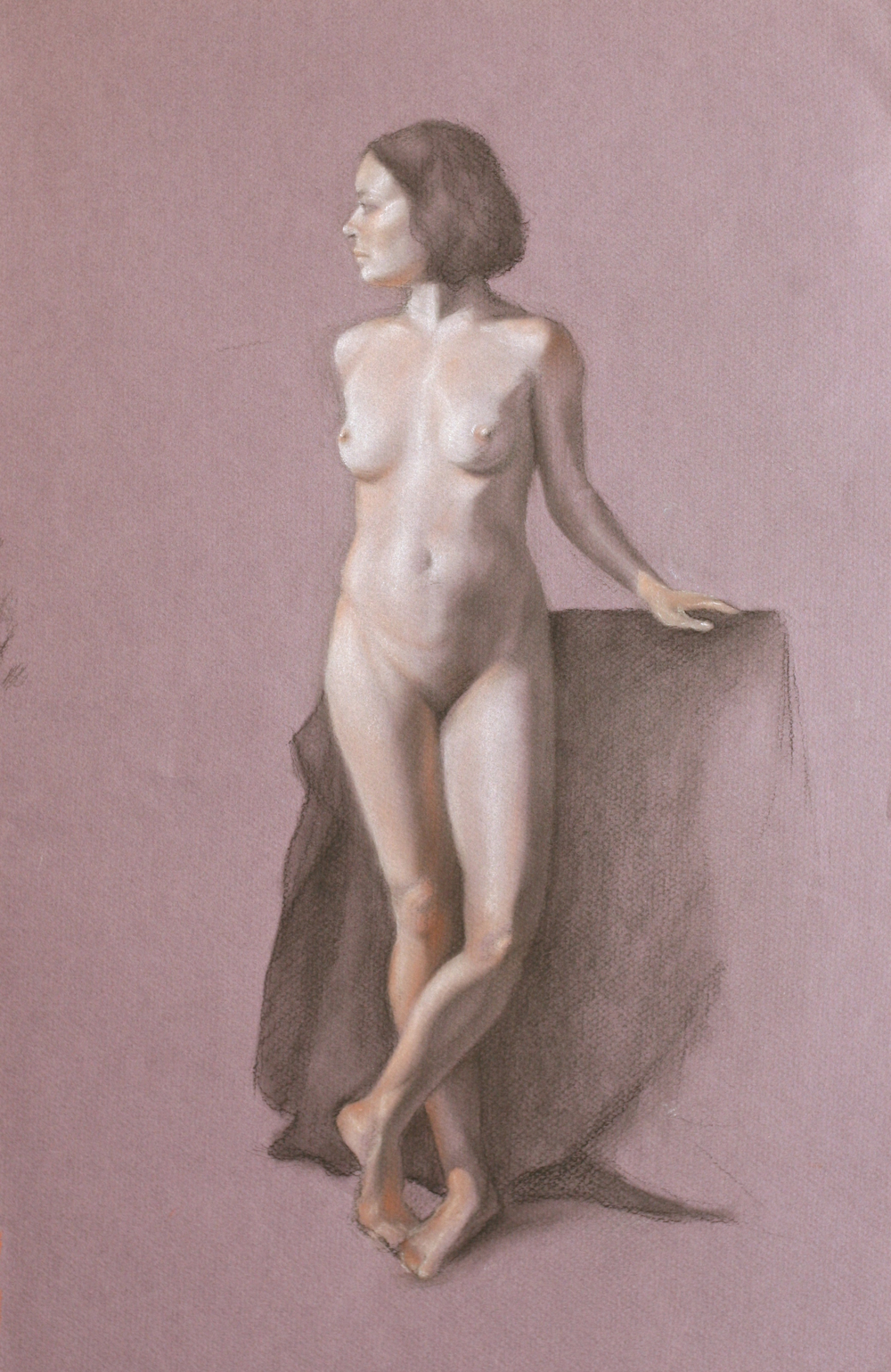 Figure Study on Blue