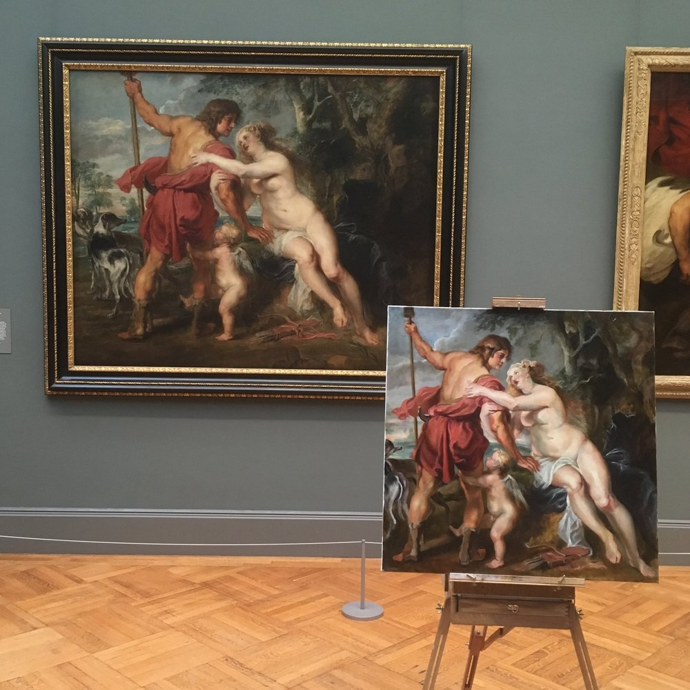 "Copy of Rubens' ""Venus and Adonis"""