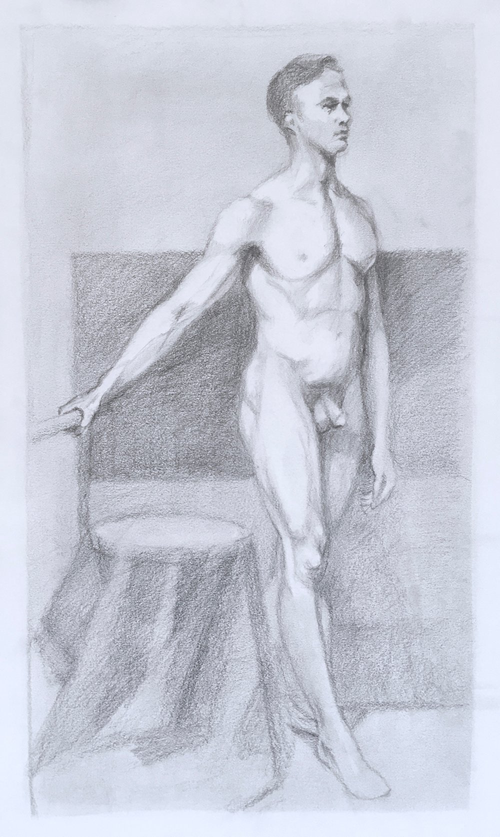 Figure Study, From the Front