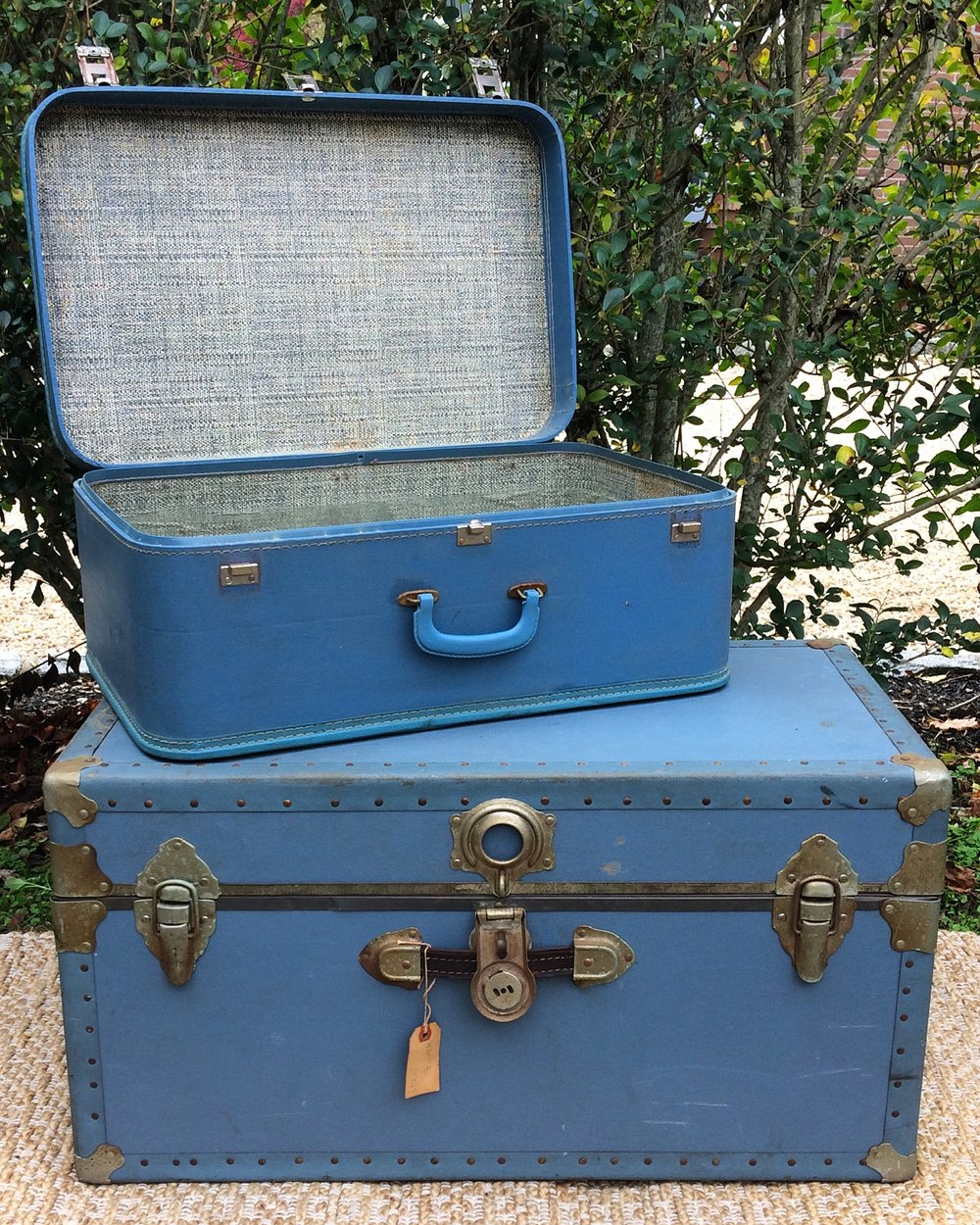 Blue Suitcase + Trunk