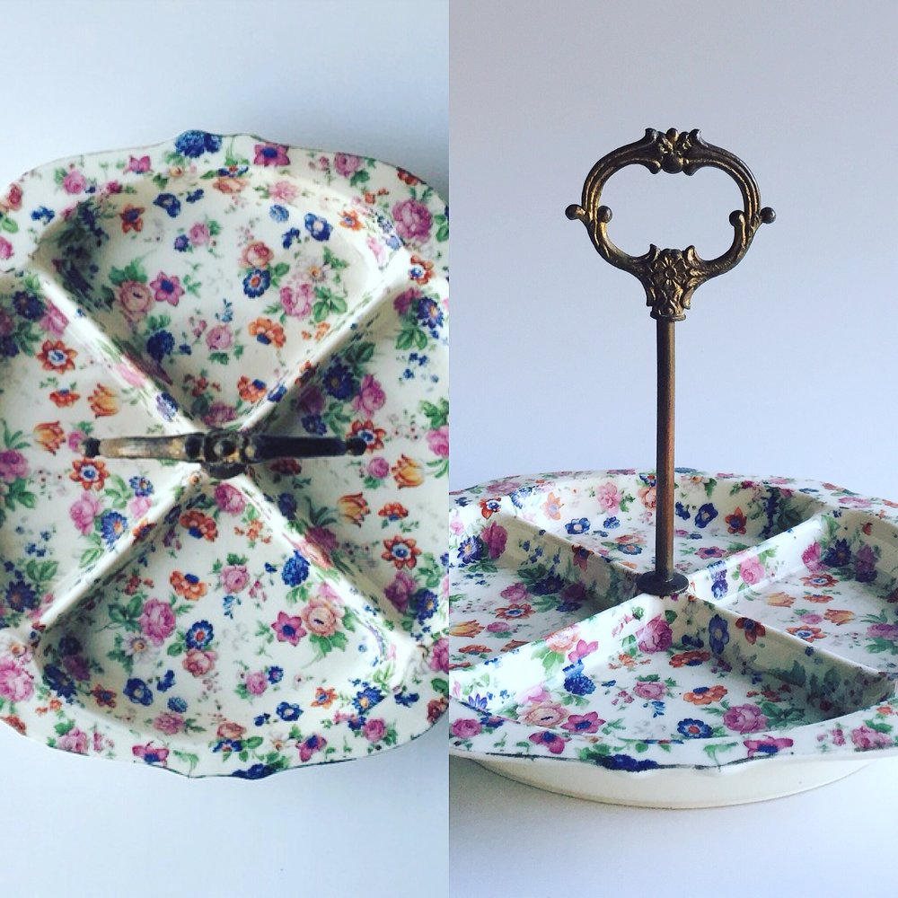 Floral Serving Tray