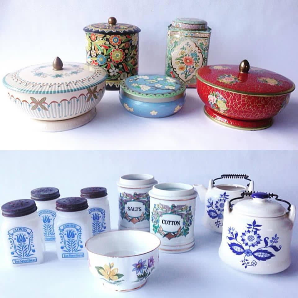 Vintage Jars + Tins