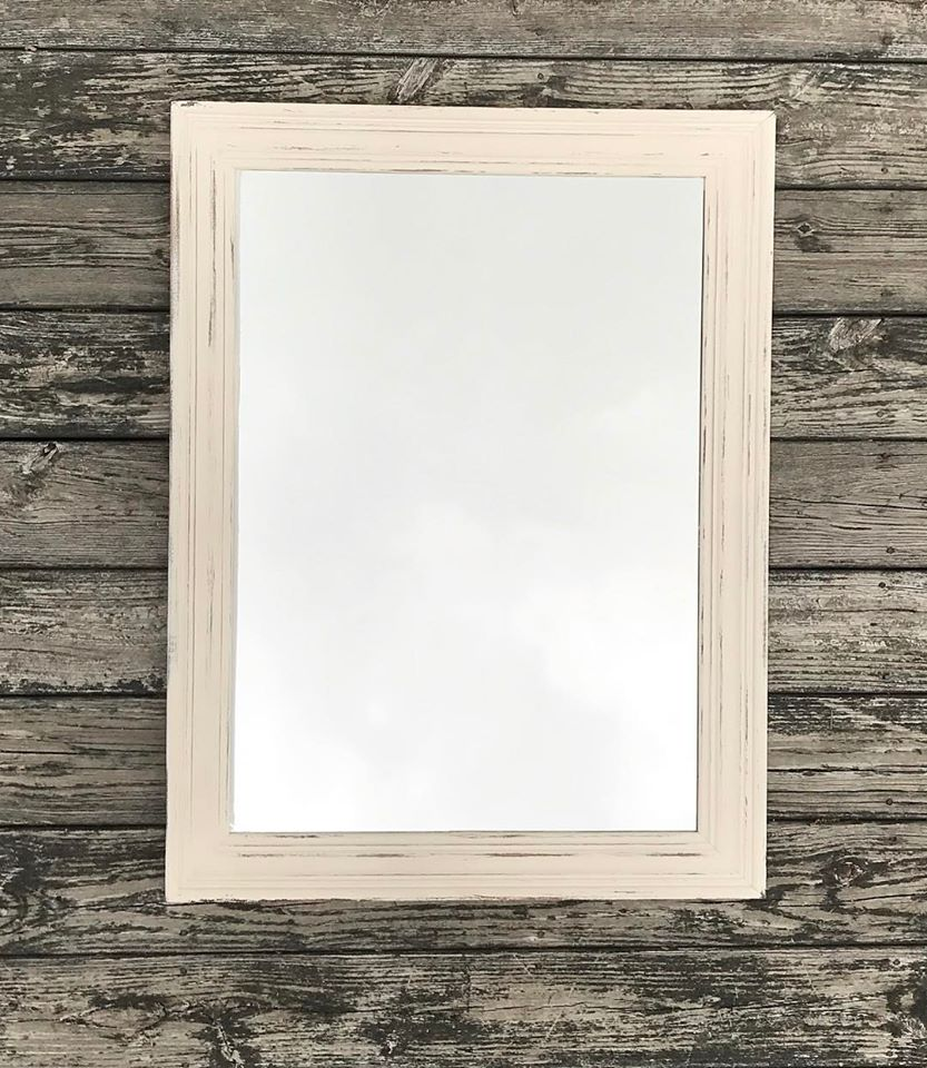 Rustic White Mirror