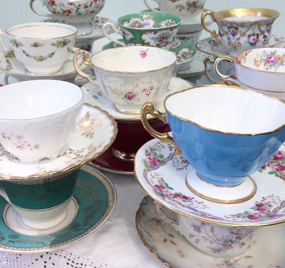 Teacups + Saucers