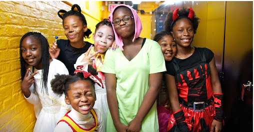 AF East New York Middle students dressed up for a Scary Soiree.