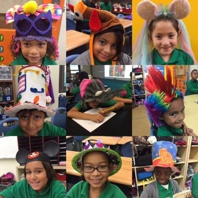 AF North Brooklyn Prep Elementary shows off crazy hats.