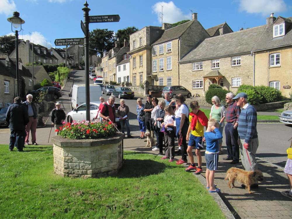 En route around Tetbury during the Beating of the Bounds - Millenium Green