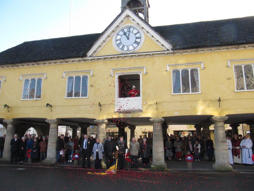 The Market House being used as the centre for Remembrance Day activities at 11.00 am 11th November