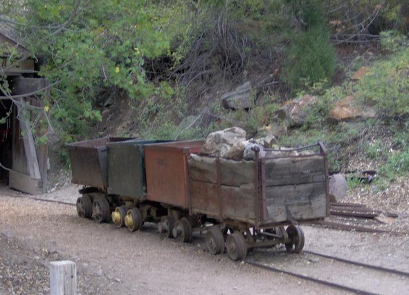 An example of the old way silver was transported when the mines were active.