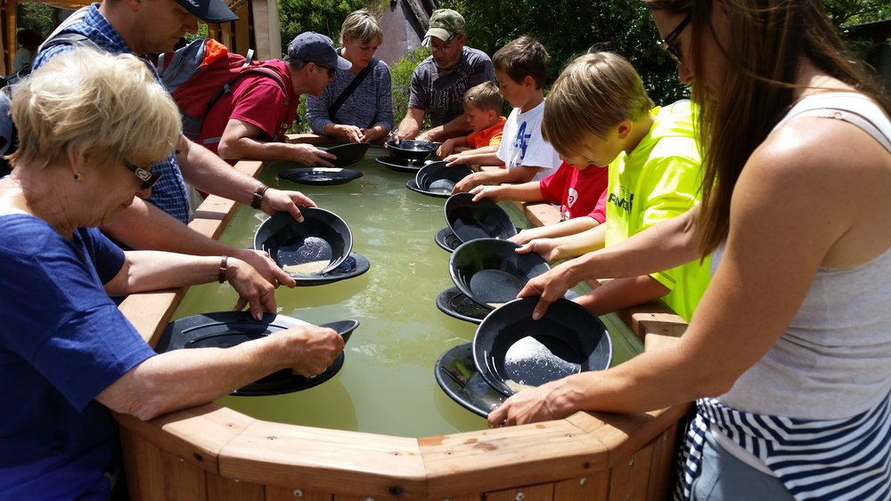Gold Panning at the Everett