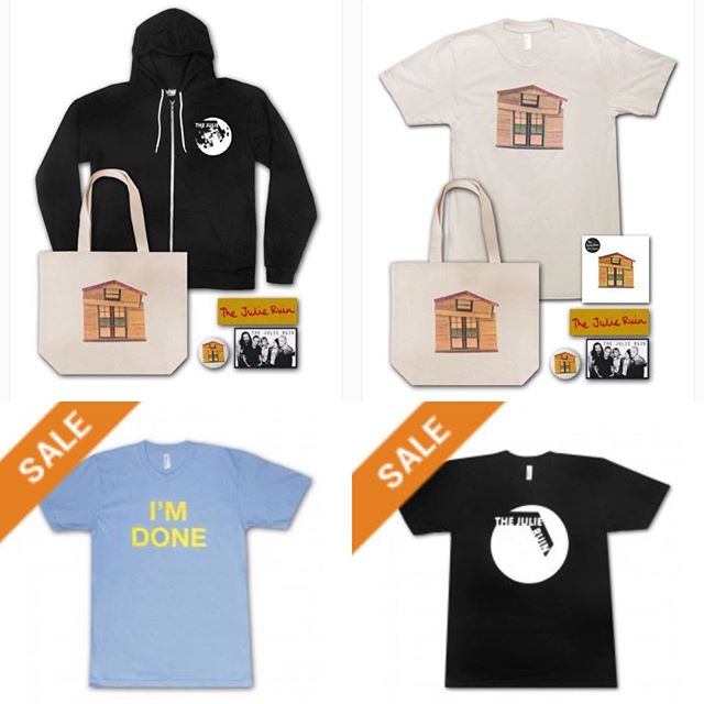 Regular Tuesday Holiday Sale starts NOW! All soft goods are 25% Off. Reduced price bundles come with a glow-in-the-dark House button and two vinyl stickers.  Go to the Store page on thejulieruin.com for all order info. *Please note there are order deadlines for gtee delivery by xmas. #regulartuesday #sale #bundles #hoodies