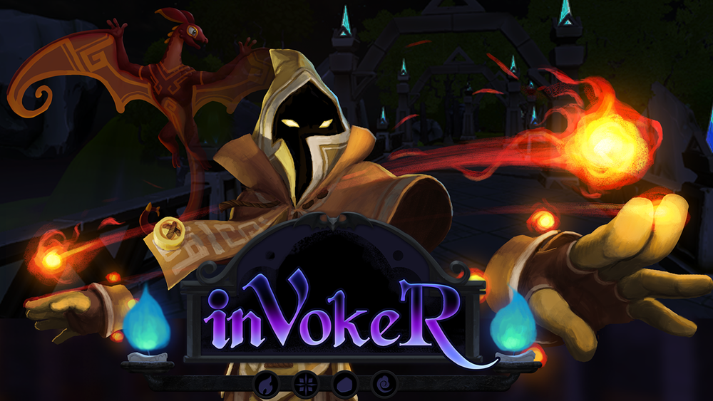 invoker - VR     Command the elements and fight your friends!   inVokeR is a one versus one wizard dueling game for VR platforms. Challenge your friends in strategic magic combat, casting spells to gain the advantage!     inVokeR - Steam Page     Also available at VR arcades!