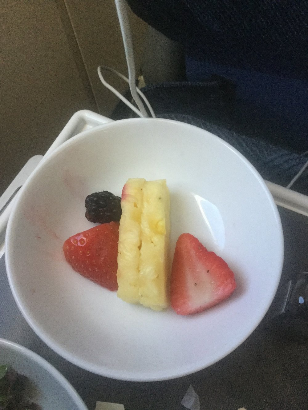 "An actual fruit plate from a recent trip… for ""dessert"""