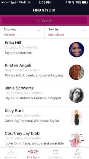Search through vetted and verified professional stylists or view our entire community to find your perfect personal stylist.