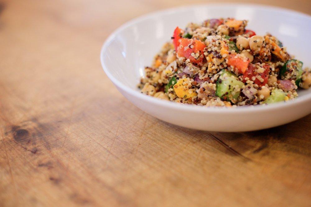 Brewed Quinoa Salad