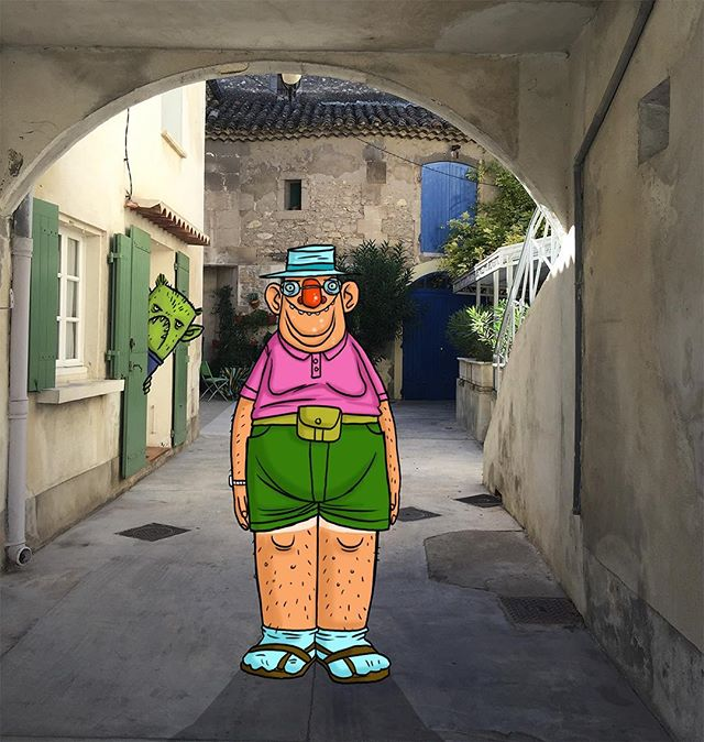 Pasty tourist in France. You do meet all kinds! #design #france #animation #travel
