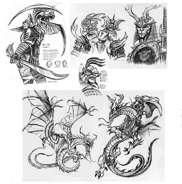 Dragon exploration. Here are some development designs that were done some time ago for a direct to DVD feature length project. Sometimes miss the old pencil and paper! #design #animation #dragons #Vancouver