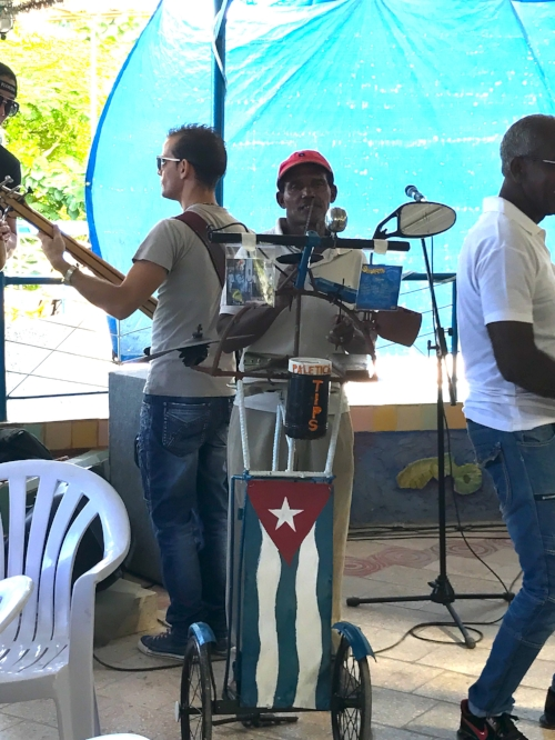 Percussionist at Muraleando - Community Arts in a Havana Barrio