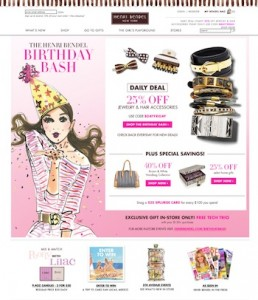 Henri Bendel Website