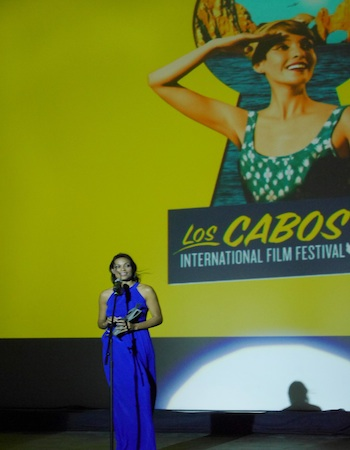 Rosario Dawson during the closing ceremony as she presented the tribute award to writer, producer and director, Atom Egoyan.