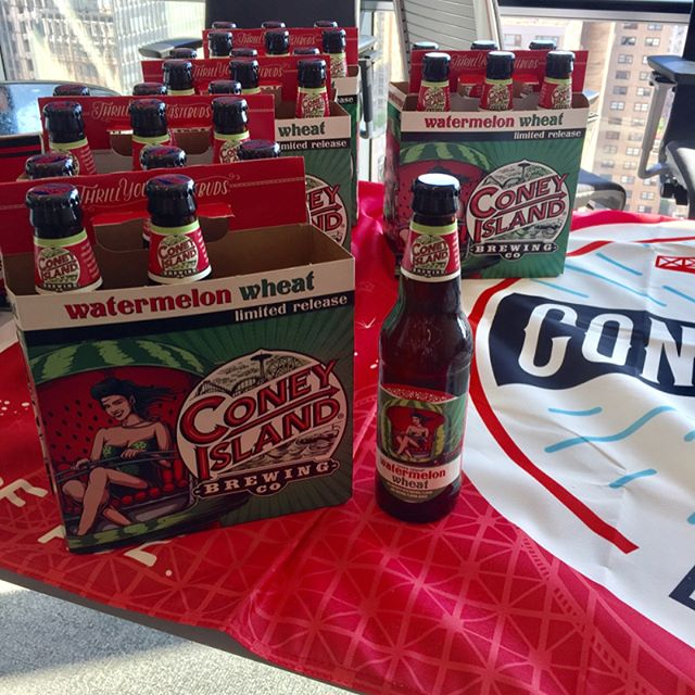 @coneyislandbeer is taking over Hearst Media for happy hour. 🍻 #coneyislandbeer #ciicworksit