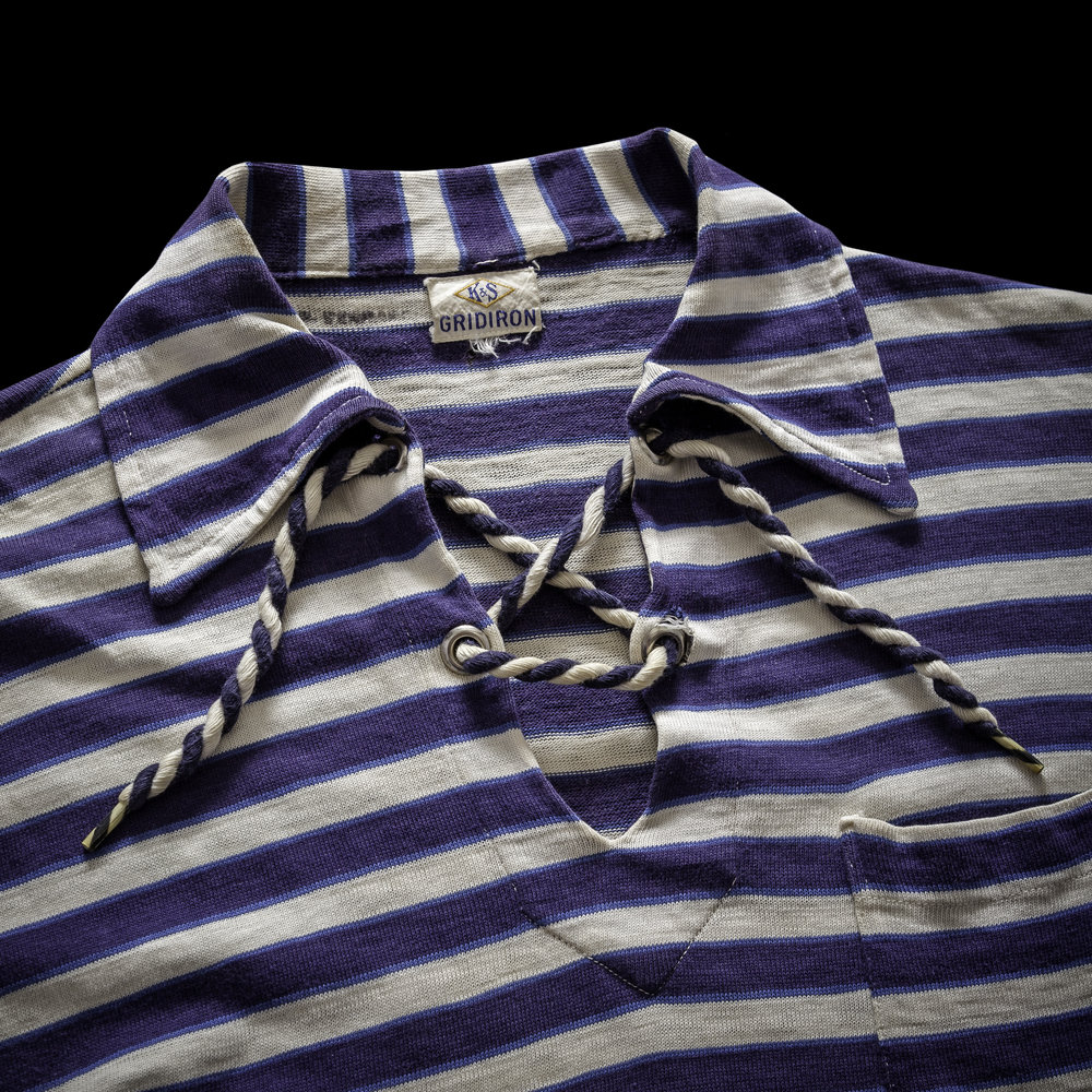 1930s Striped Pullover Shirt Details