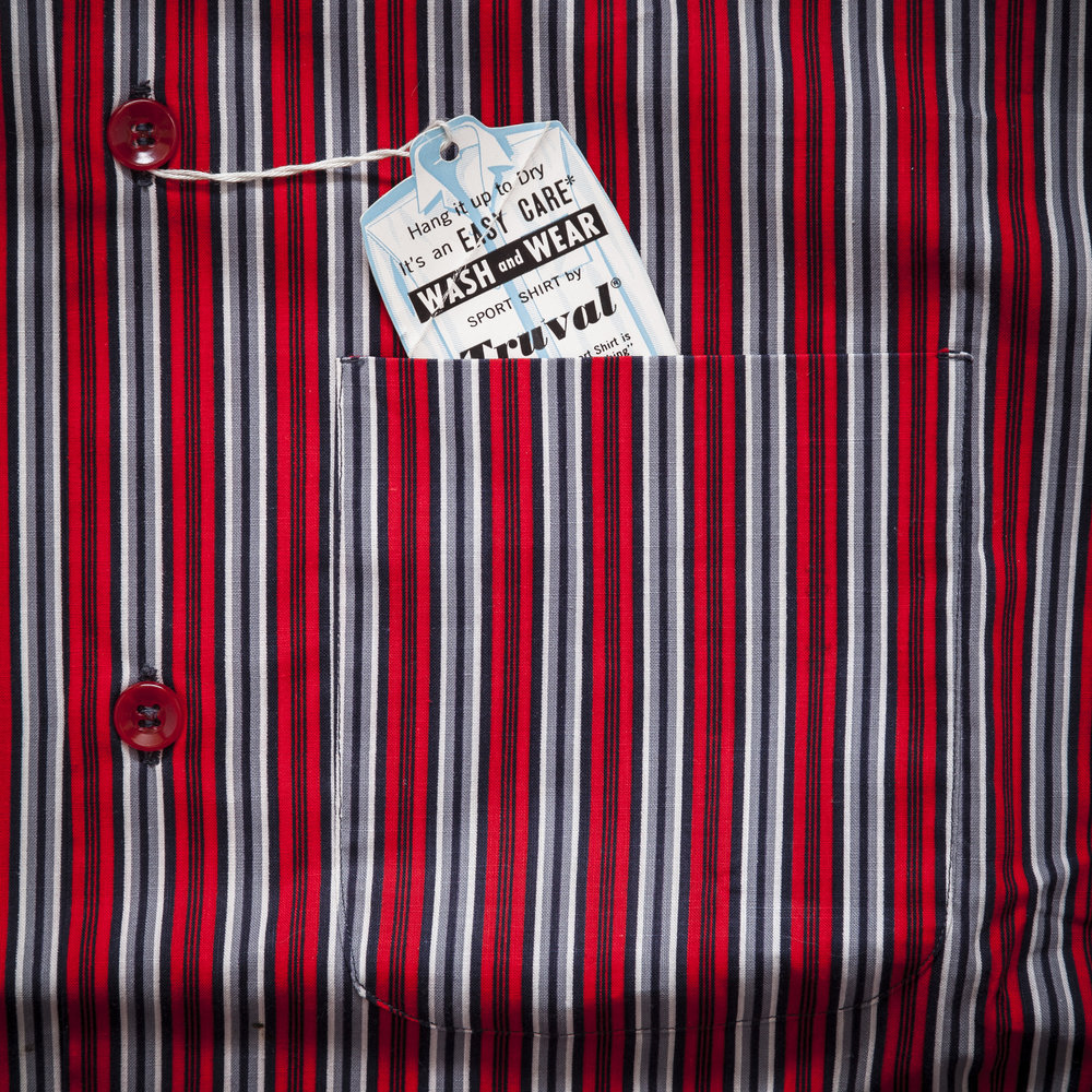Deadstock 1950s Shirt Paper Tag Detail