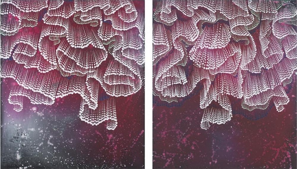 """Barbara Takenaga, """"Folds"""", 2015"""